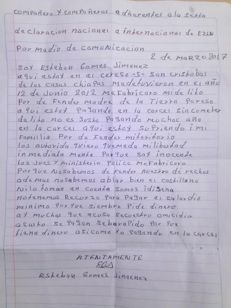 Carta Esteban 2-3-2017
